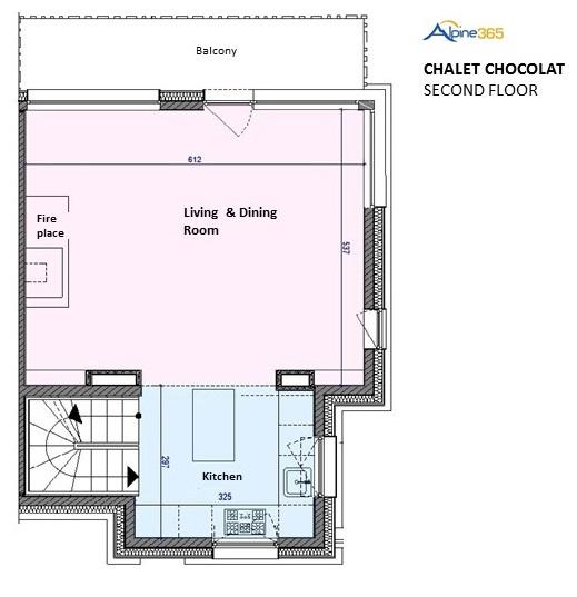 Floorplan of Chalet Chocolat, La Plagne