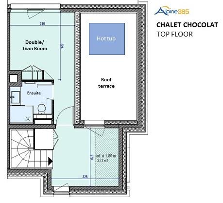 Plan d'étage du Chalet Chocolat, La Plagne