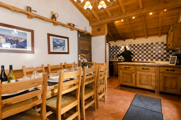 Dining room at Chalet Chamois, La Plagne