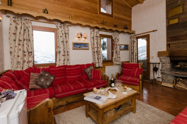 Lounge at Chalet Chamois, La Plagne