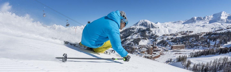 Skiing above La Plagne © La Plagne 2018