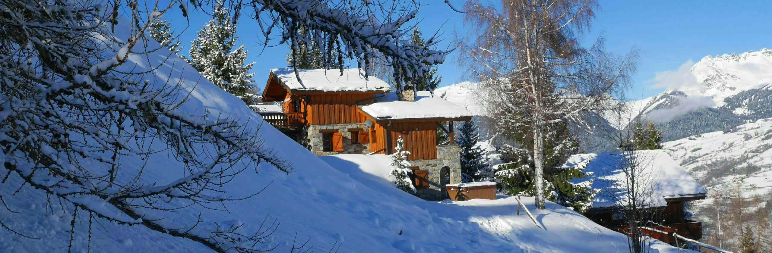 External view of Chalet Pisteside and Chalet Chamois in La Plagne