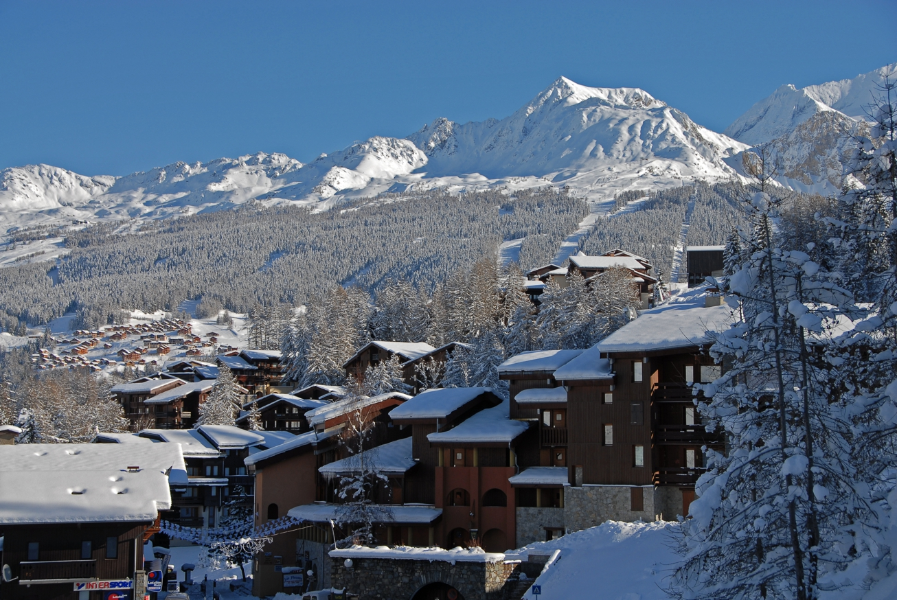 View of Les Coches in Winter